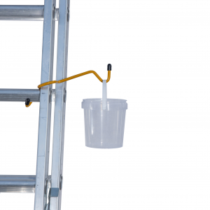 Paint pot and ladder handy in use